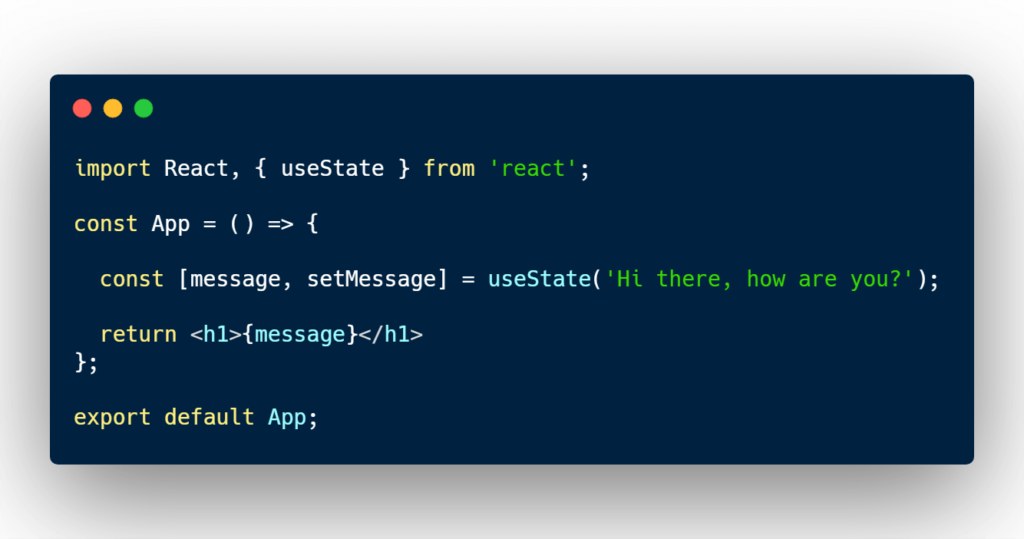 React useState example