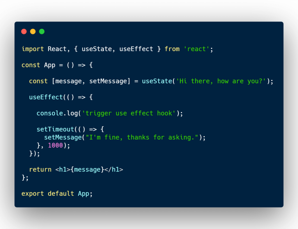 React useEffect and useState example