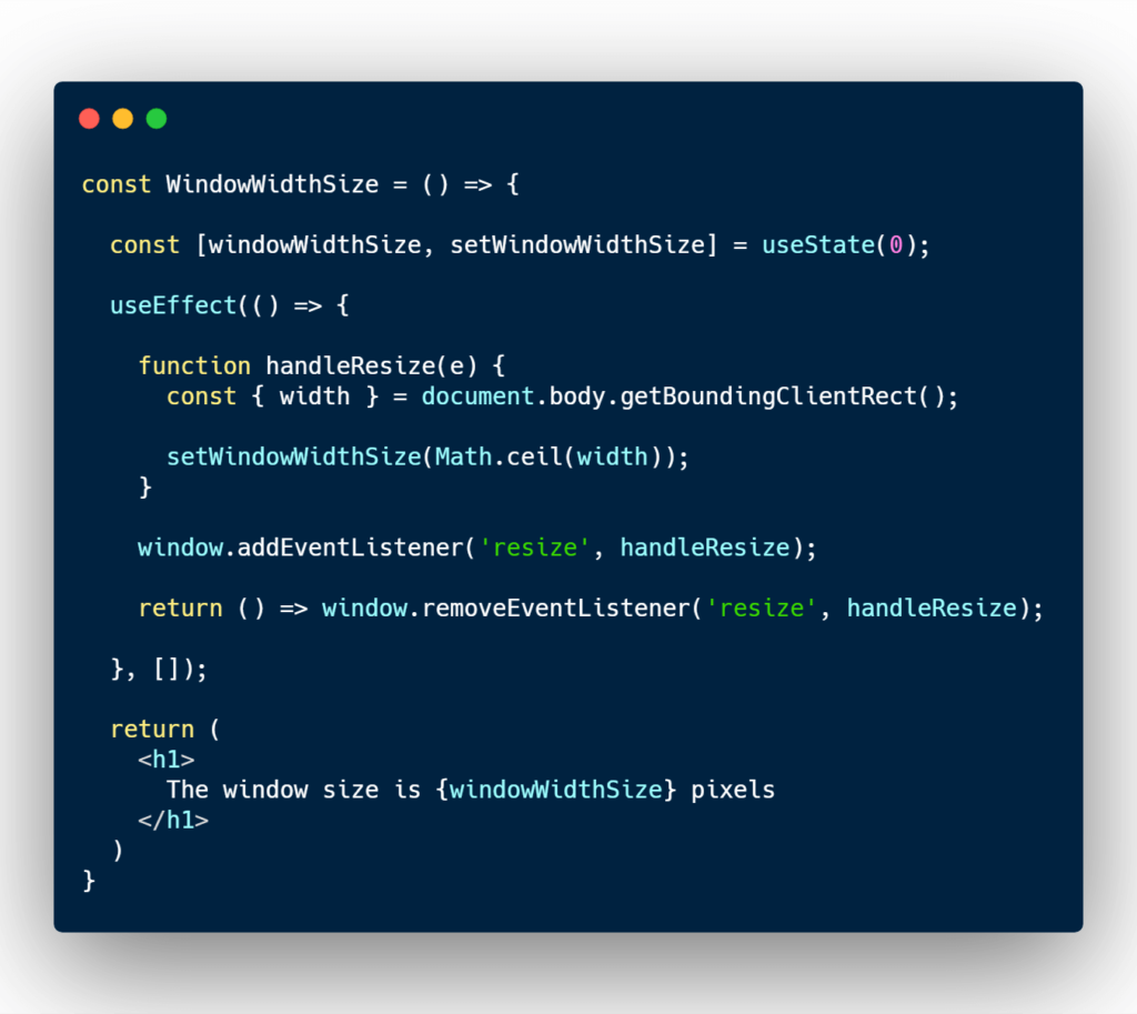 Replicating componenWillUnmount with React useEffect. Remove event listener.