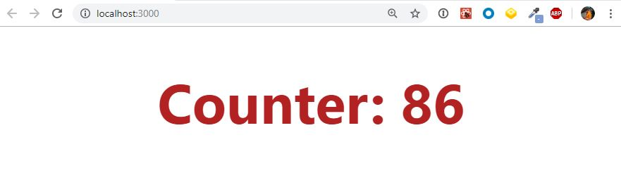 React counter output