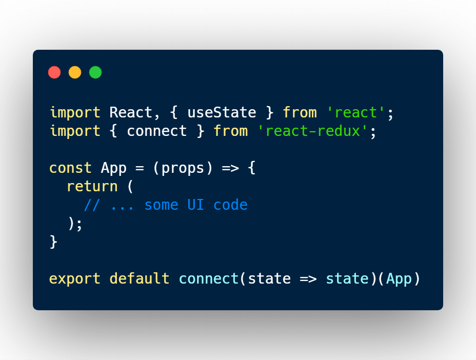 Using React redux connect to get state data