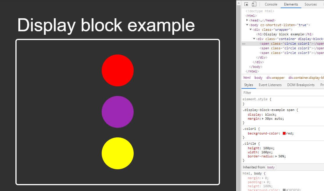 How to use the top 5 CSS display values: none, block, inline-block
