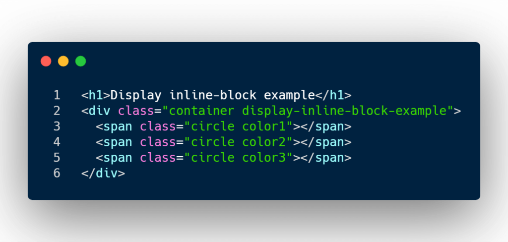 Display inline-block HTML structure