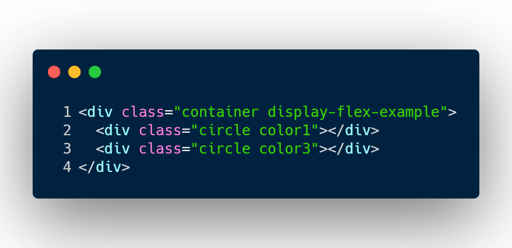 Display flex HTML structure