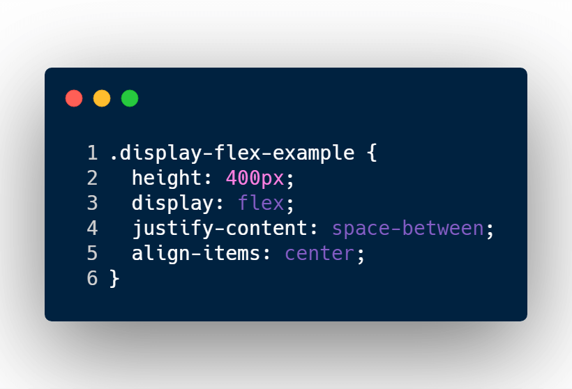 Move div elements on each side with display flex, justify-content, and align items.