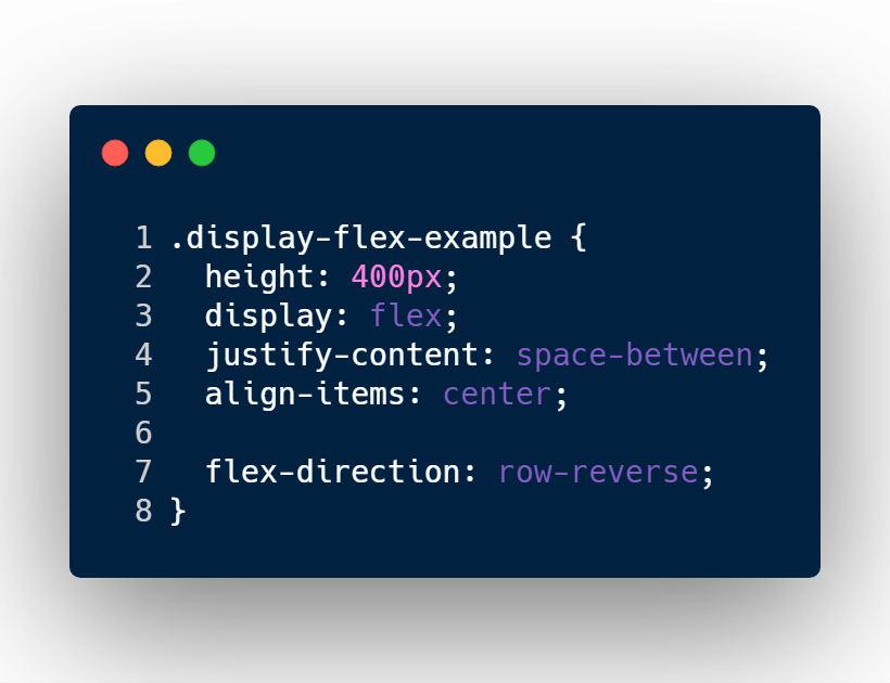 flexbox reverse div elements