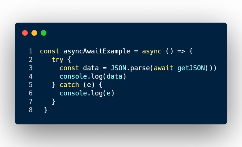 async/await code example