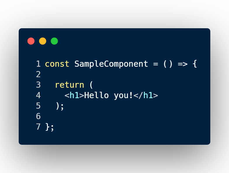 React render. no conditional example