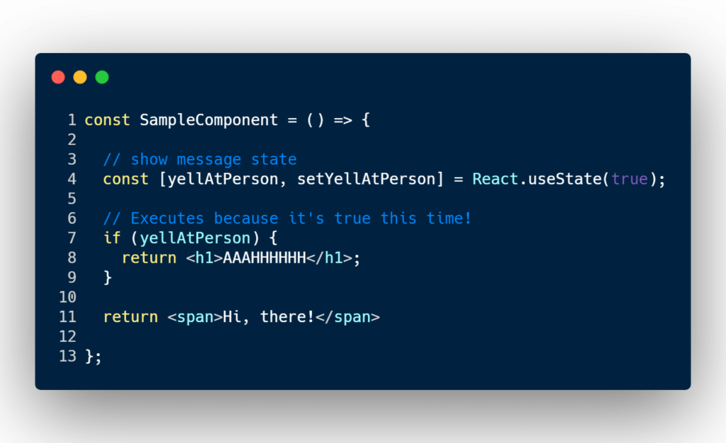 if-else statement react condition