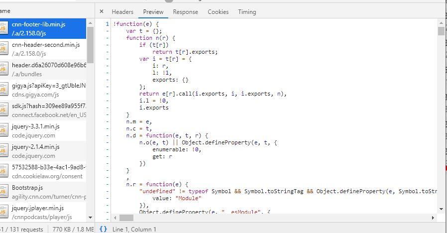 CNN minified footer JS code