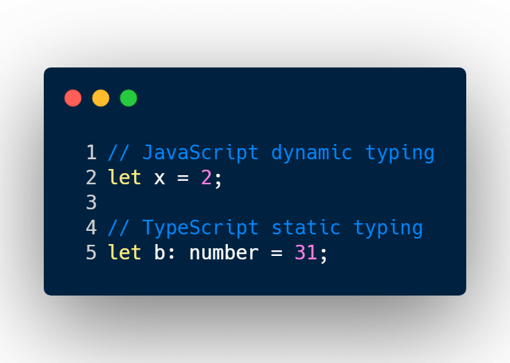 Dynamic typing vs static typing language - typescript