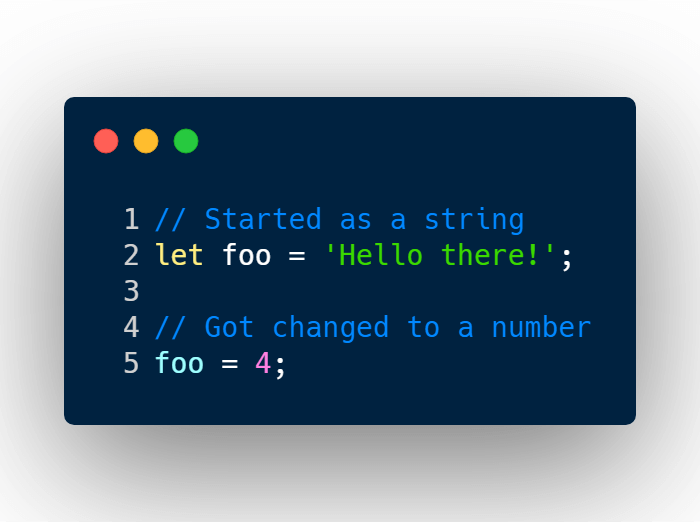 Changing variable primitive value in JavaScript.