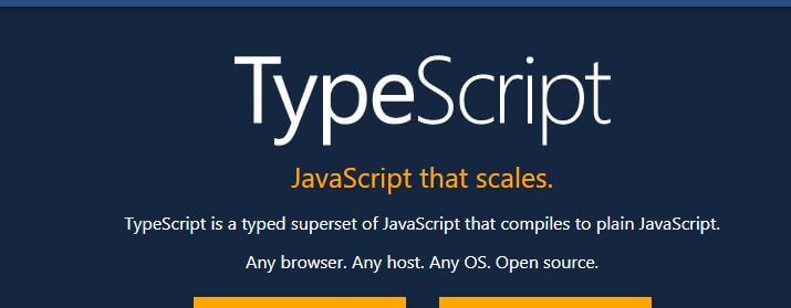 TypeScript is a typed superset of JavaScript that compiles to plain JavaScript