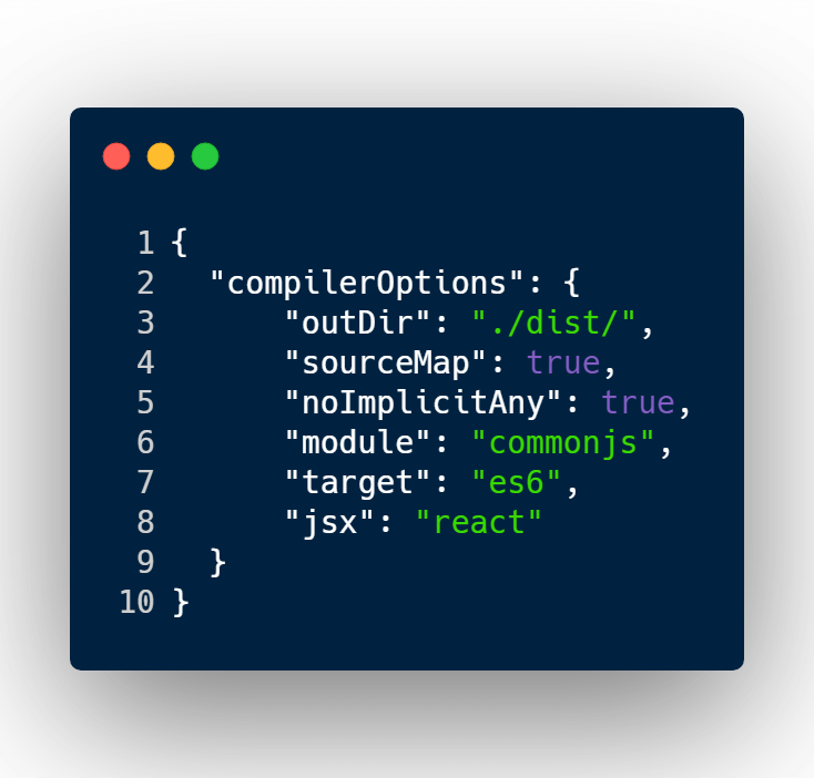 tsconfig.json example