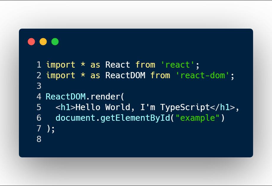 A hello world React component