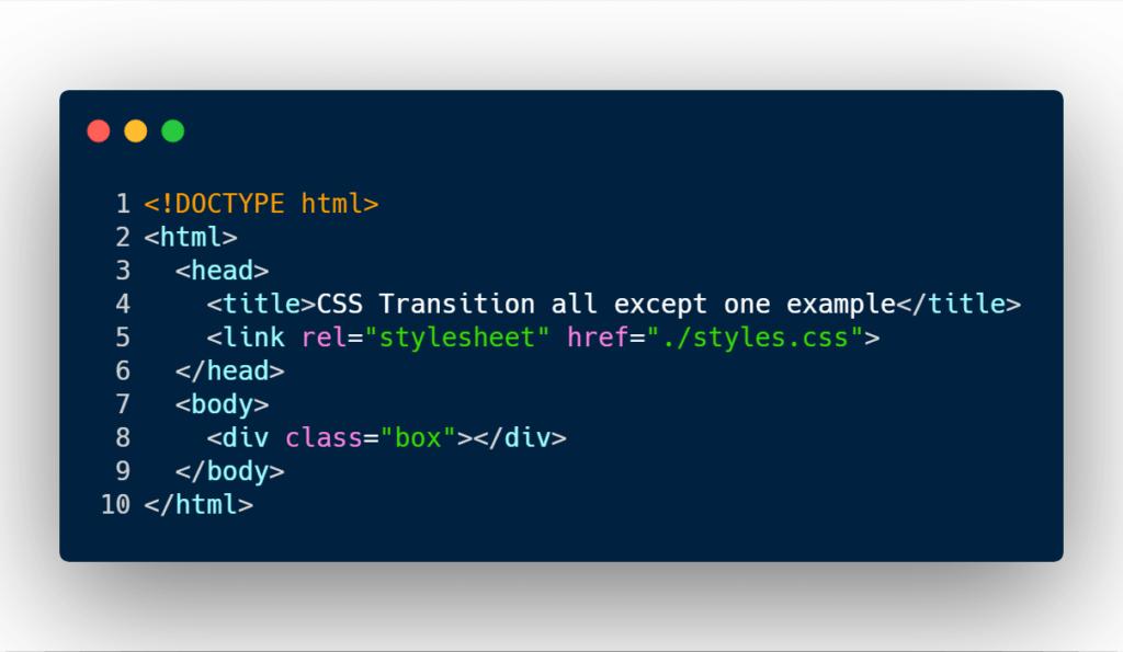Box html markup