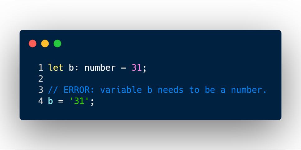 TypeScript error message