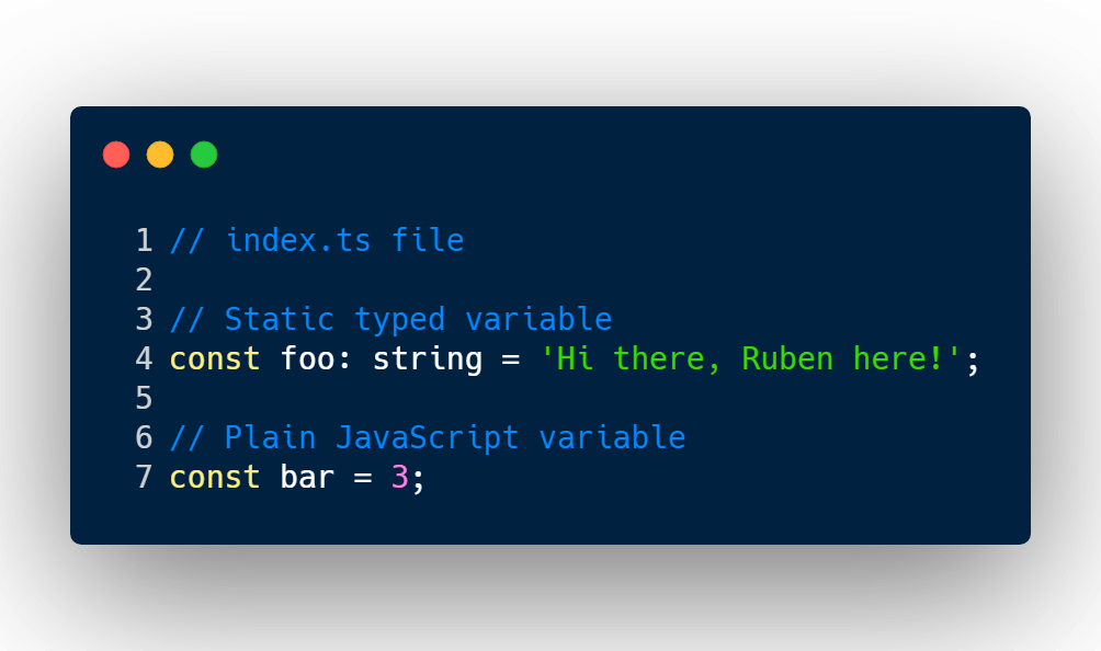 Static type variable vs plain JS variable