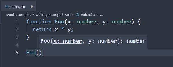 VS Code IntelliSense tracking parameters that are used