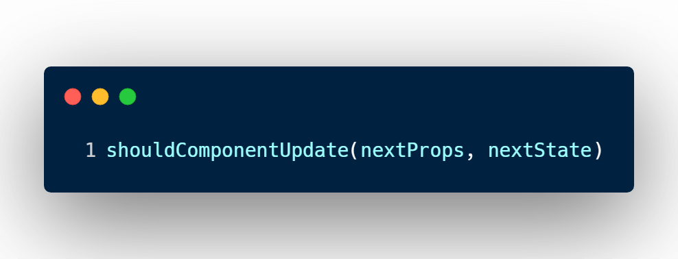 nextProps and nextState  arguments in React shouldComponentUpdate