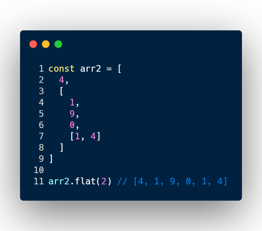 Flatten nested array with specific depth
