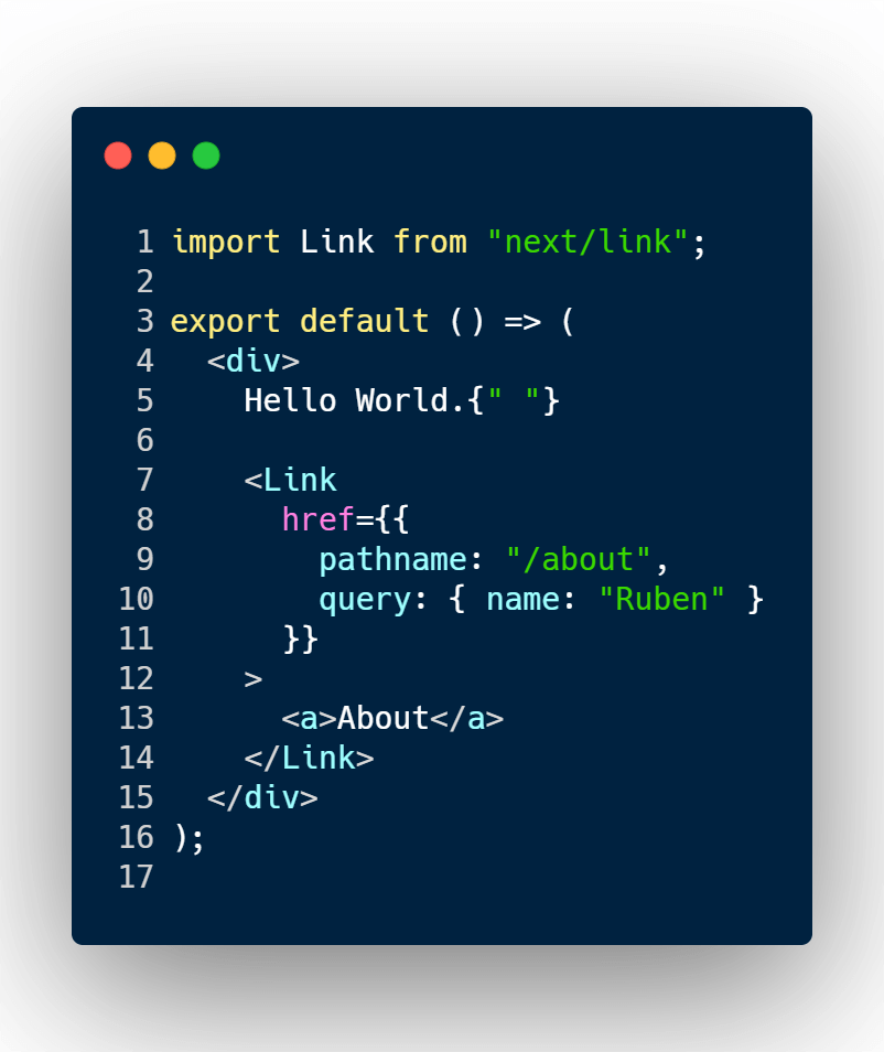 Adding query params to Next JS link component