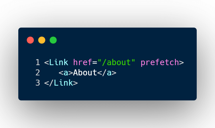 Next JS Prefetching resources for the about page